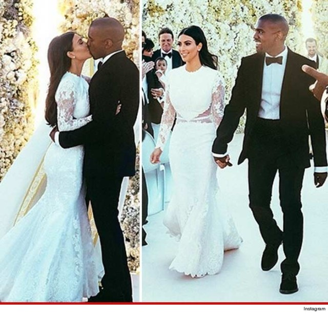 Photo Of the Week: The Newly Weds- Kanye West & Kim Kardashian West