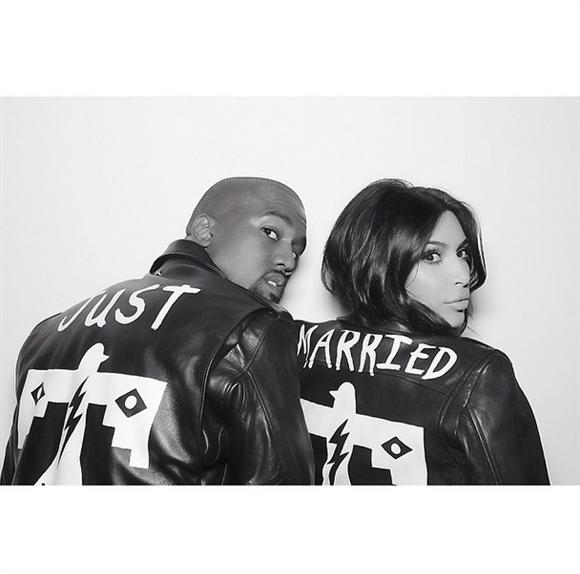 Kimye showing off their  newly married status to the world.