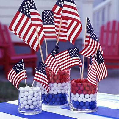 DIY Decor: 4th of July & World Cup Watch Party DIY Table Centerpiece